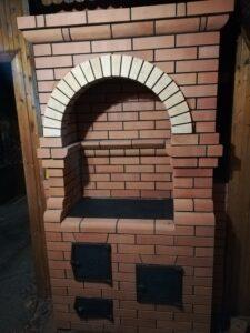Печь-шведка с аркой и духовкой