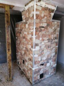 Печь-шведка в декоративной отделке камнем – печник Кублицкий Владимир