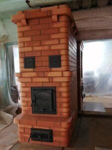 Отопительная каминопечь, совмещенная с печью-шведкой для разных комнат – печник Кублицкий Владимир